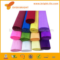 waterproof colorful crepe paper,wrapping paper,decorative fluorescent craft streamer printed colorful crepe paper
