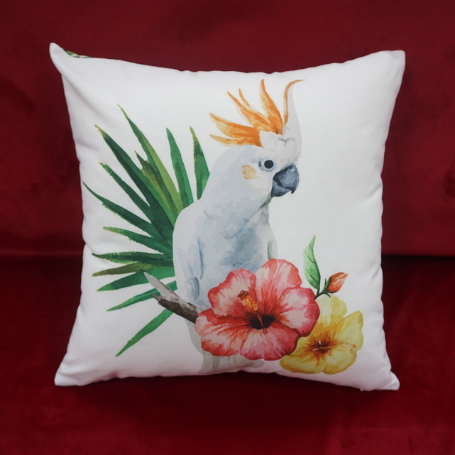 Polyester canvas throw cushion cover washable and no color fading