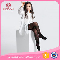 Fashion style children printed black silk pantyhose knitted retail supply OEM