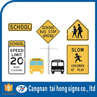 School bus reflective signs