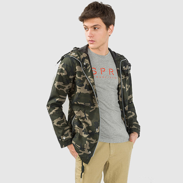 Made in China Custom Good Cost Performance Comfortable Windproof with Hood Camo Jacket