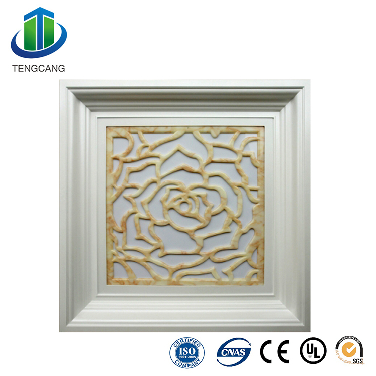 2x2 polystyrene decorative ceiling tiles with led