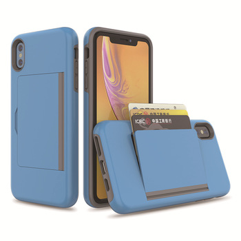 3 Cards Could Insert Card Slot case for iPhone XS XR XS Max