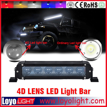 Hot sale truck parts accessories ! 4D Single row 60w offroad led light bar for tractor
