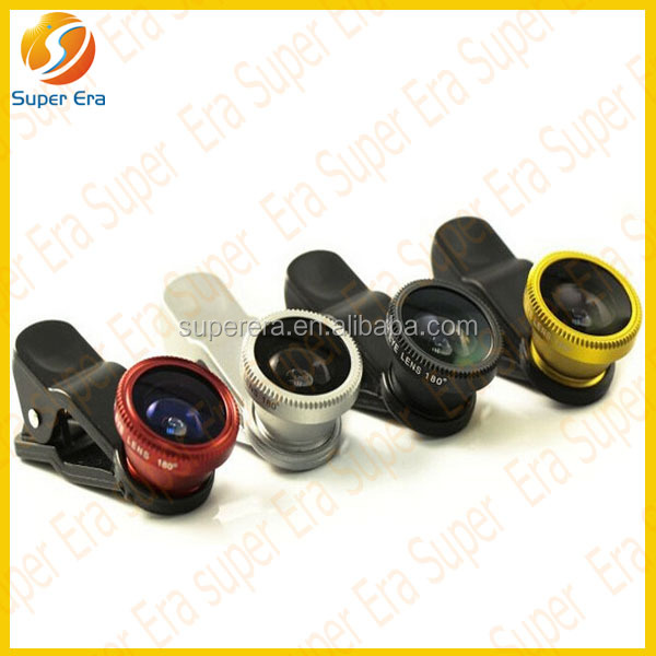 mobile phone 3 in 1 Fisheye Wide Angle Macro Lens Photo Set for HTC M8 Phone 4S 4 5 5S 5C Galaxy S5 S4 S3i9500 N7100 Note 3