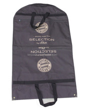 Custom t shirt packaging with handles in brown polyester foldable bag
