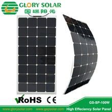100w flexible solar panel,solar module Glorysolar factory in SHENZHEN