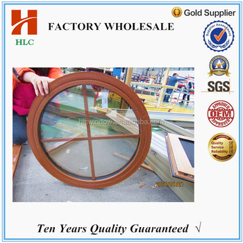 6mm tempered glass aluminium round fixed window for decoration