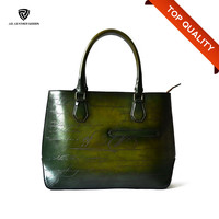 Vintage Engraved Small Quantity Leather Chinese Handbag Manufacturer