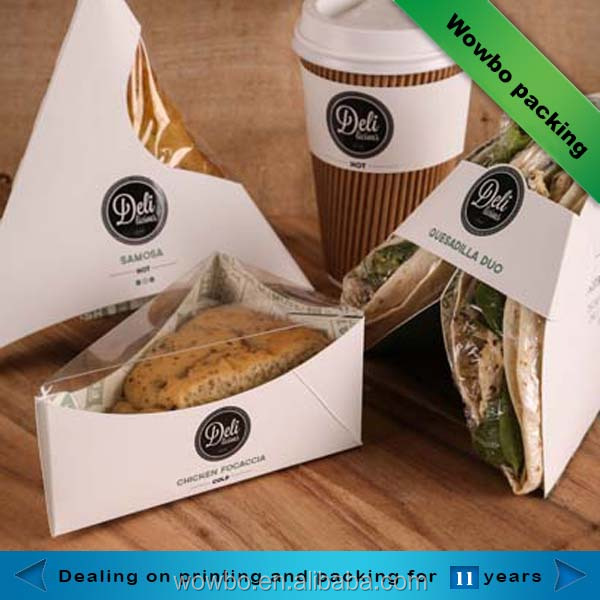triangle sandwich box for packaging / paper packaging for sandwiches