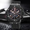 2016 hot selling swiss design men's functional chronograph silicone bracelet watch