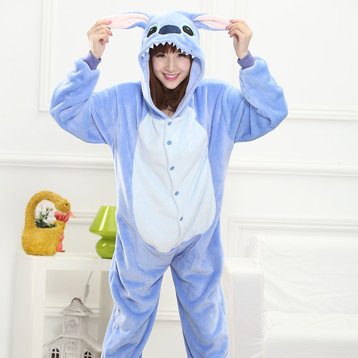 2017 Brand Clothing Totoro Unisex Adults Casual Flannel Hooded Pajamas Cosplay Cartoon Animal Onesie Sleepwear