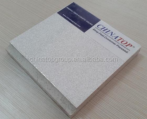 Mineral fiber acoustic board For Interior Decoration / Acoustic ceiling