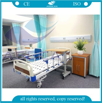 AG-BMS101A CE ISO medical furniture adjustable manual 2 function hospital bed