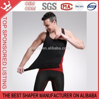 Bamboo Fiber Seamless Breath Belly Control Breat Gym Tank Top Men