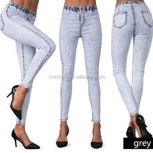 Z59291B New model jeans pent latest design girls top cheap price skinny stretch jeans women
