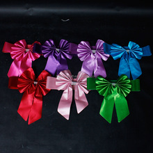 Fancy chair sashes for weddings bowtie chair sash colorful chair sash