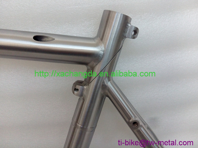 OEM Titanium Road Bicycle Frame with best price Professional titanium bike parts supplier with Ti alloy XACD titanium road frame