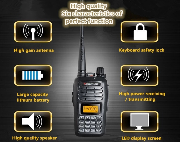 OEM T550 Teamup band 199 CH UHF/VHF handheld radio for long range