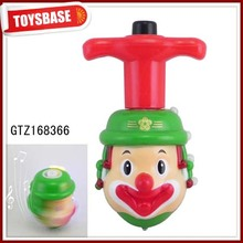 Kids wooden spinning tops