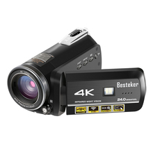 Manufacturer Besteker 60fps 24MP 30X Digital Zoom Ultra HD with Wi-Fi and IR Night Vision 4K Video Camera Camcorder