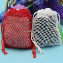 wholesale organic cotton mesh bags with drawstring