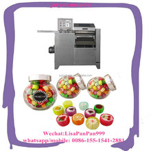 Commercial round candy slicer cutter /lollipop sugar candy forming cutting machine/lollypop candy processing line low price