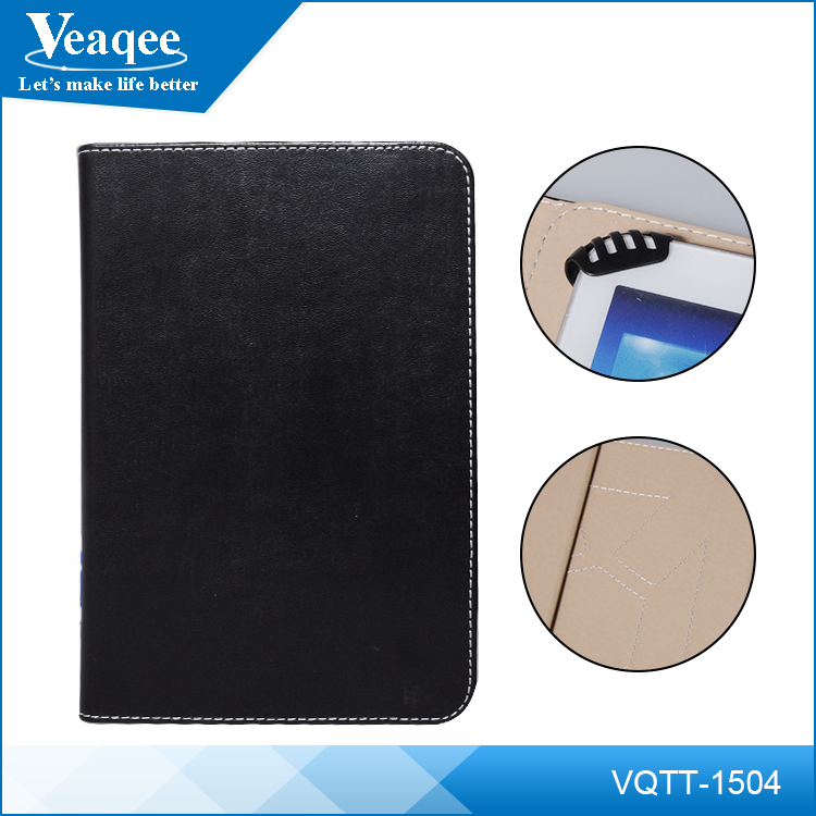 "Veaqee universal pu leather flip 8"" shockproof case for tablet"
