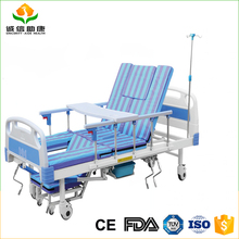 Reliable smooth welding manual multi function hospital bed using in home care