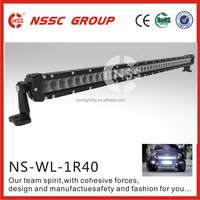 Hot sale IP68 Waterproof 40inch Single Row CREE LED light bar for UTV,Offroad,Jeep,Truck,SUV,4WD,Car