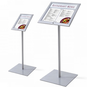 Snap frame floor pedestal sign display holder stand a4 poster stand