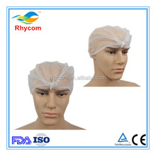Food industrial disposable nonwoven PP fabric bouffant cap/hair net/mushroom cap