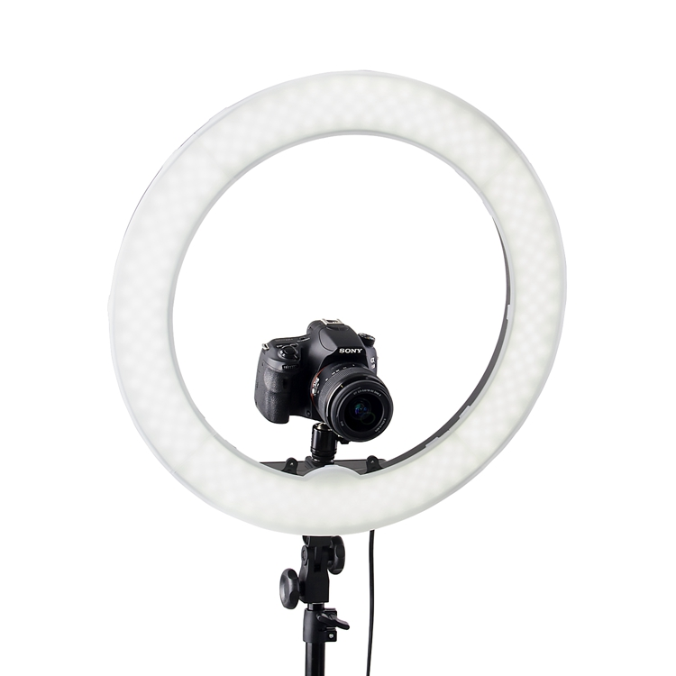 Fosoto camera 18 inch 240pcs LED 55W 5500K Dimmable Ring Light