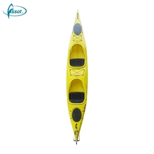 New Design ocean PE kayak brand, top PE fishing kayak, PE fishing kayak tandem