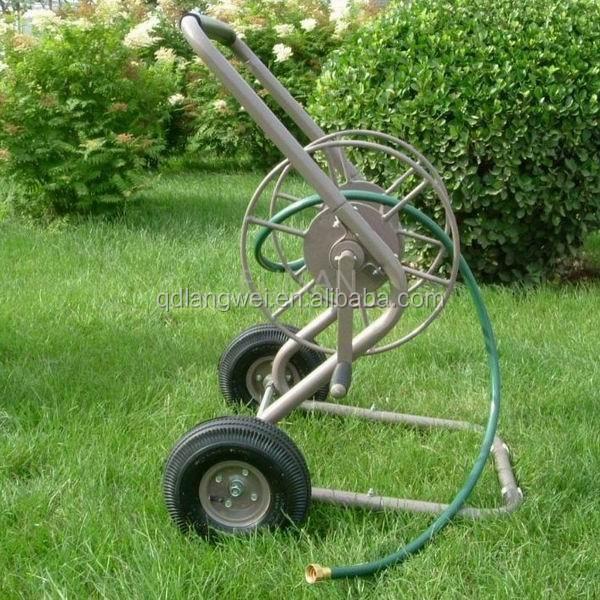 2015 Hot Selling Outdoor 2 Wheel Metal Garden Hose Reel Wagon Buy Hose Reel Wagon 2 Wheel Hose