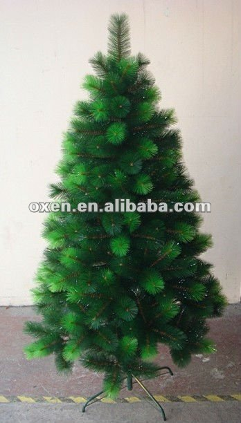 6ft green artificial pine needle christmas tree