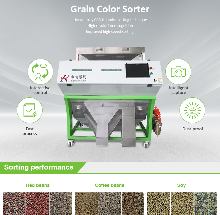 Oil seed color sorter/agricultural seed separator/seeds sorting in Shenzhen