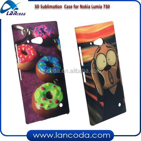 alibaba china sublimation wallet case for Nokia Lumia 730,sublimation smart phone case,sublimation phone cover