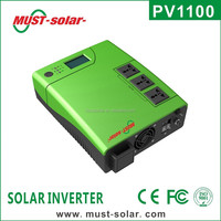 < Must Solar> PV1100 plus series high frequency 12v 220v pure sine wave 1500w inverter