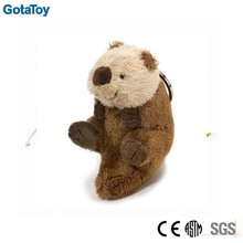 customized stuffed plush toy keychain plush otter keychain soft animal keyring
