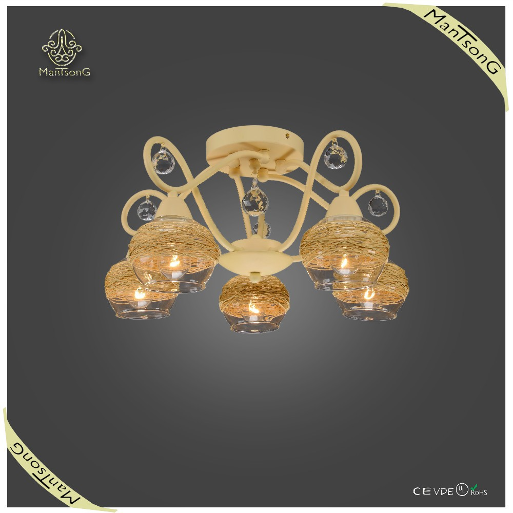 Simple Design Original Style Ceiling Lamp Crystal Ceiling Light Bedroom Decorative Fancy Light