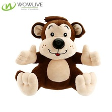 Intelligent Monkey Toy 720p Security Wireless WiFi Ip Video Audio Recording Baby Monitor Hidden Nanny Cam