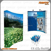 2016 Trade show aluminum pop up display velcro fabric pop up expo booth