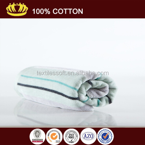 wholesale white and blue stripes 100%cotton kitchen towel