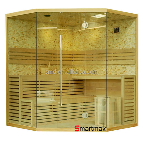 2015 China New product wholesale price luxury finland wet steam sauna cabin traditional steam sauna room