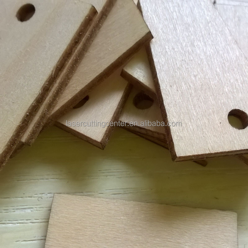 unfinished hanging blank wooden square shape craft supply