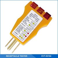 120V AC 3 Wire Receptacle Tester and Circuit Analyzer,Indicates 5 Wiring Errors and Easy Read Chart
