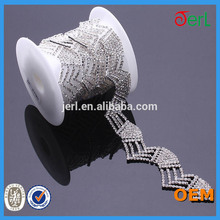 high quality decorative rhinestone trimming with crystal