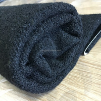 black knit viscose polyamide fabric for winter coat