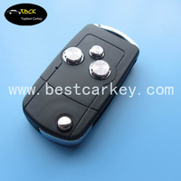 Topbest custom car flip key shell for modified flip 3 buttons key shell TOY43